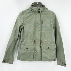 LEVI'S Green Field Jacket Long Sleeve Snap Button
